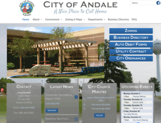 cityofandale.com screenshot