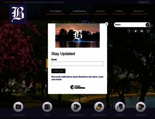 cityofbarberton.com screenshot