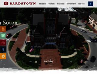 cityofbardstown.org screenshot