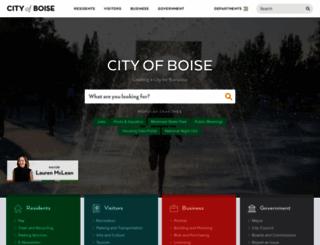 cityofboise.org screenshot