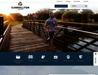 cityofcarrollton.com screenshot