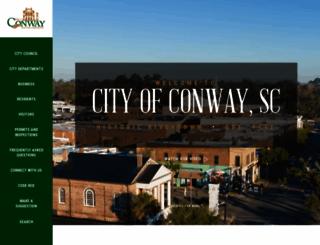 cityofconway.com screenshot