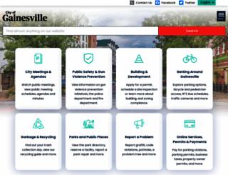 cityofgainesville.org screenshot