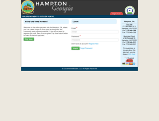 cityofhampton-ga.governmentwindow.com screenshot