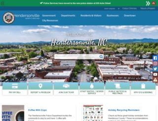 cityofhendersonville.org screenshot