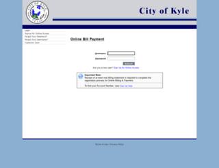 cityofkyle.dpnetbill.com screenshot