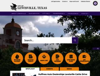 cityoflewisville.com screenshot
