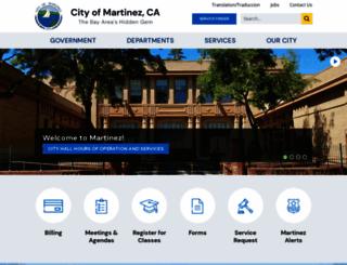 cityofmartinez.org screenshot