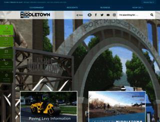 cityofmiddletown.org screenshot