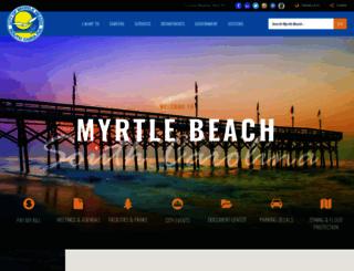 cityofmyrtlebeach.com screenshot