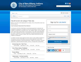 cityofnewalbany.iapplicants.com screenshot