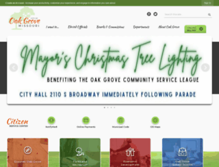 cityofoakgrove.com screenshot