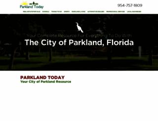 cityofparkland.com screenshot