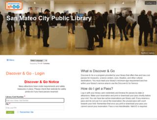 cityofsanmateo.discoverandgo.net screenshot