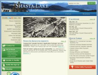 cityofshastalake.net screenshot