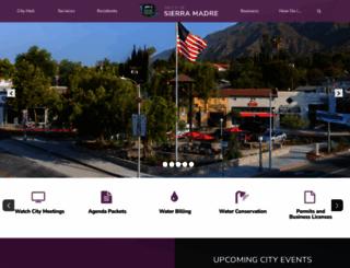 cityofsierramadre.com screenshot