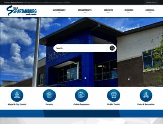 cityofspartanburg.org screenshot