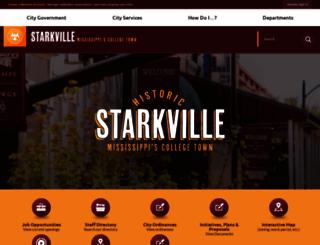 cityofstarkville.org screenshot