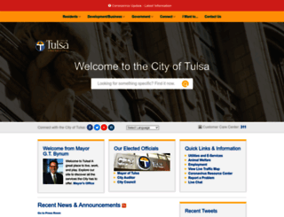 cityoftulsa.org screenshot
