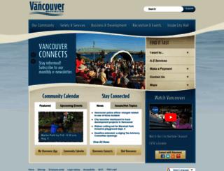 cityofvancouver.us screenshot