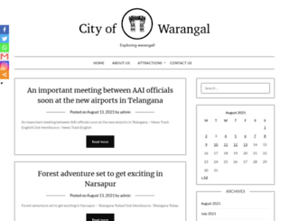 cityofwarangal.com screenshot