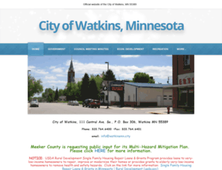 cityofwatkins.com screenshot