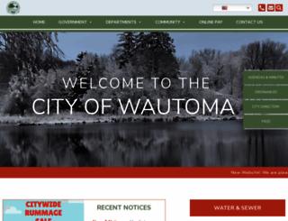 cityofwautoma.com screenshot