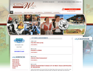 cityofwest.com screenshot