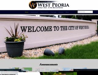 cityofwestpeoria.com screenshot