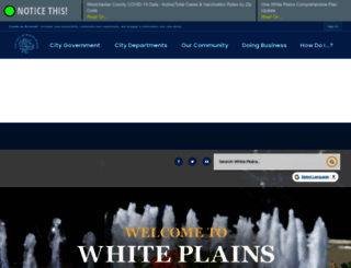 cityofwhiteplains.com screenshot