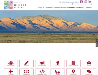 cityofwillcox.org screenshot