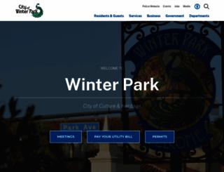 cityofwinterpark.org screenshot