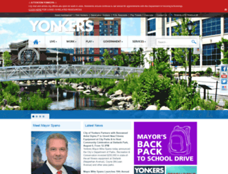 cityofyonkers.com screenshot