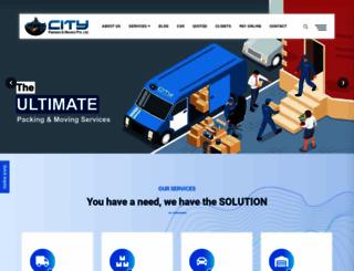 citypackersmovers.com screenshot