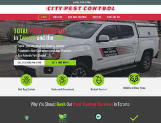 citypest.ca screenshot