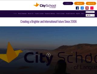 cityschooloflanguages.co.uk screenshot