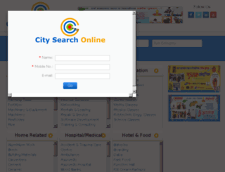 citysearchonline.in screenshot