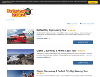 citysightseeingbelfast.rezgo.com screenshot