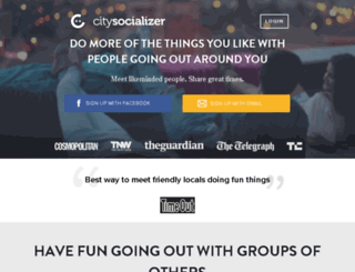 citysocialising.com screenshot