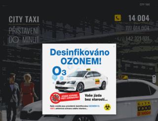 citytaxibrno.cz screenshot