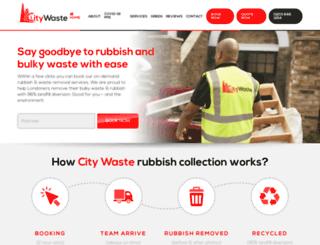 citywastecollection.co.uk screenshot