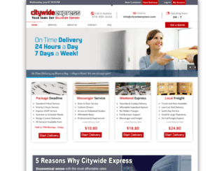citywideexpress.com screenshot