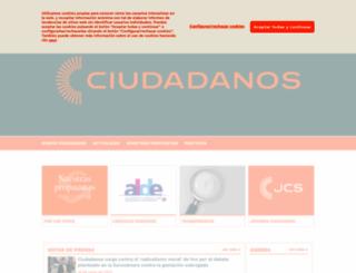 ciudadanos-cs.org screenshot