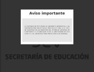 cive.sev.gob.mx screenshot