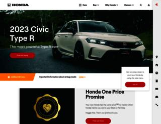 civic.honda.com.au screenshot