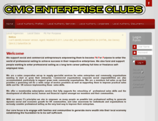 civicenterpriseclubs.org screenshot