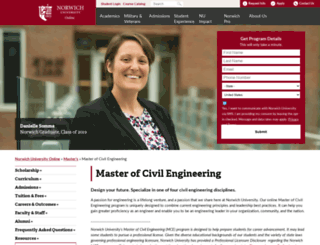civilengineering.norwich.edu screenshot