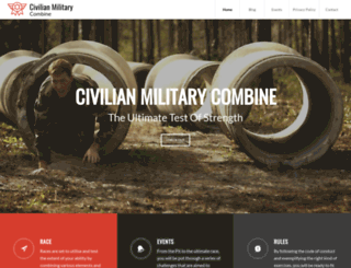 civilianmilitarycombine.com screenshot