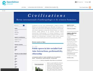 civilisations.revues.org screenshot