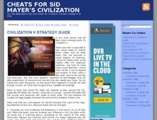 civilizationcheats.com screenshot